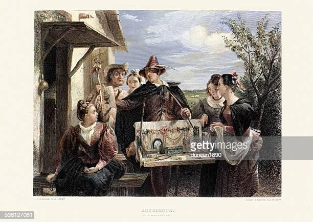 illustrations, cliparts, dessins animés et icônes de œuvres de william shakespeare-le conte d'hiver - marchand