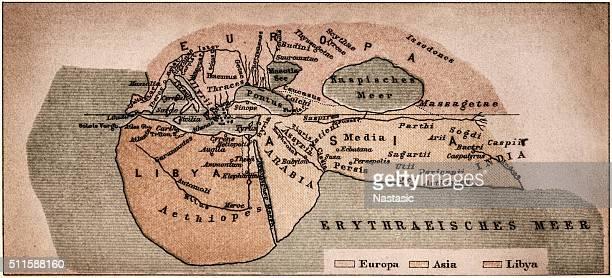 world according to herodotus - herodotus stock illustrations