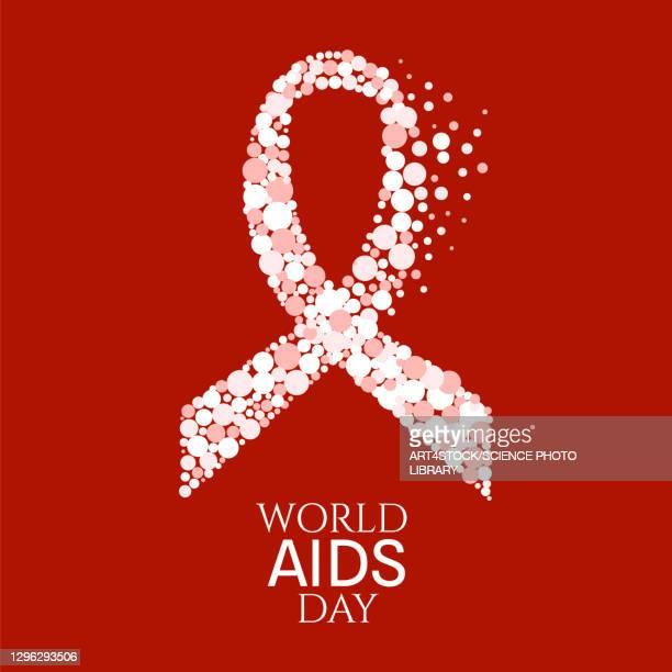world aids day, illustration - day stock illustrations