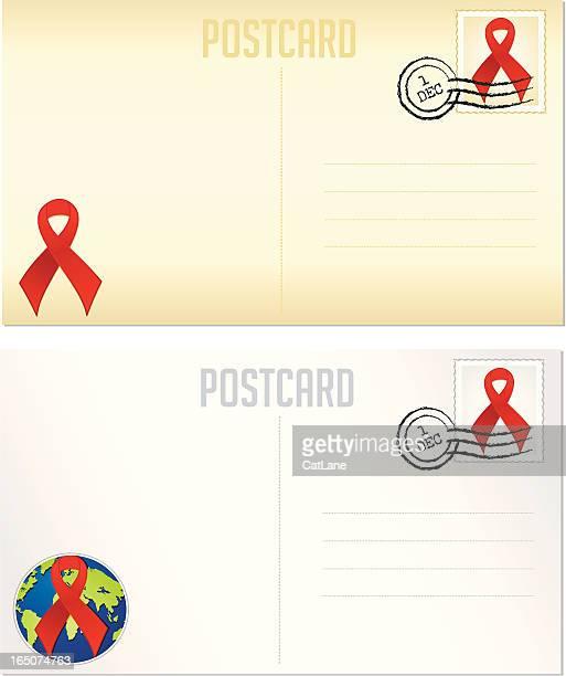 Dia Mundial Contra a Sida postais