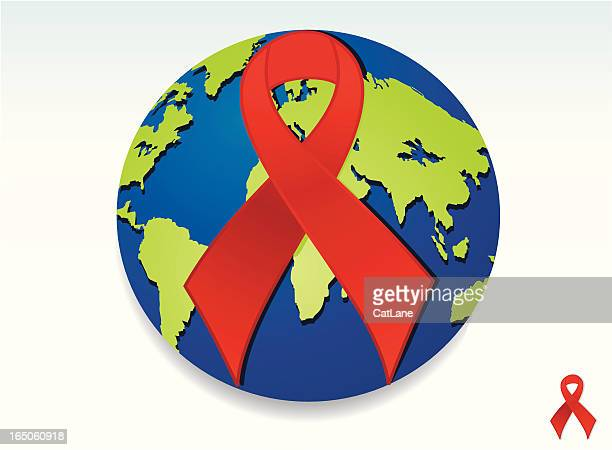 world aids/hiv day background - aids stock illustrations, clip art, cartoons, & icons