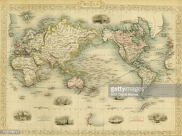 world antique map - history stock illustrations