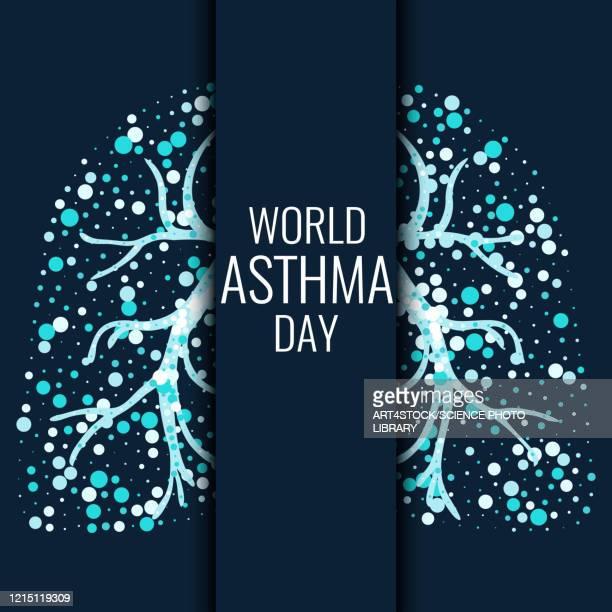 world asthma day, illustration - day stock illustrations