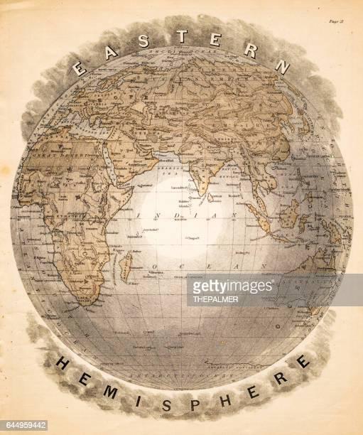 World eastern hemispheres 1883