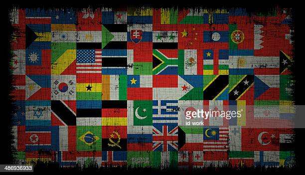 world flags background - national flag stock illustrations