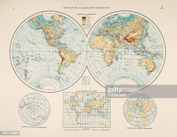 World in Hemispheres 1895