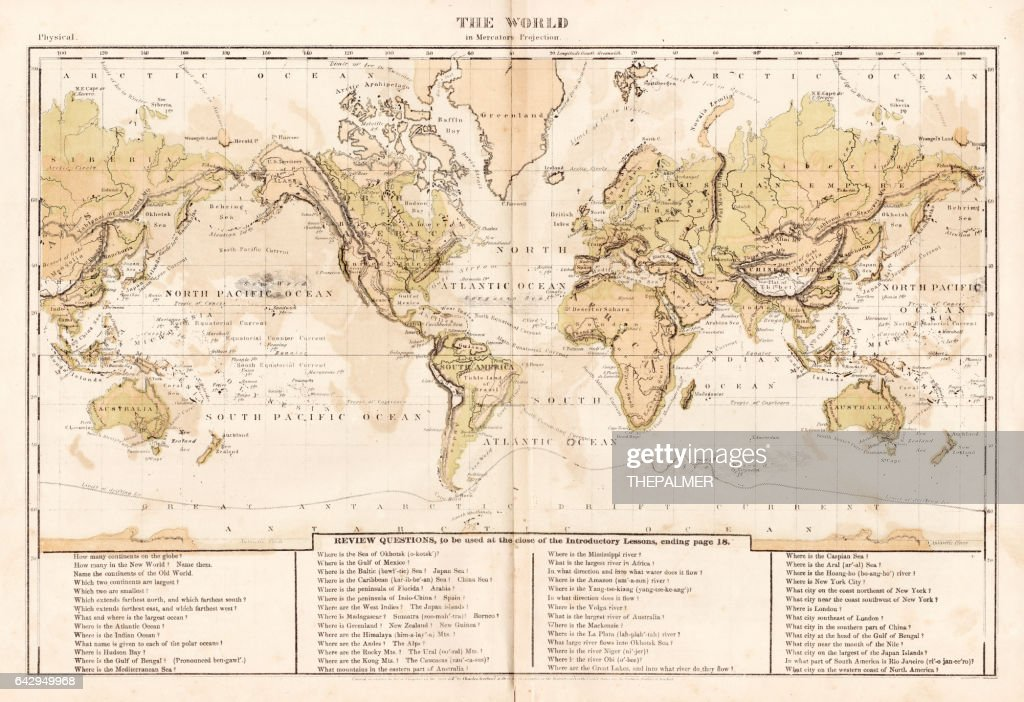 World map 1867 stock illustration getty images world map 1867 stock illustration gumiabroncs Choice Image