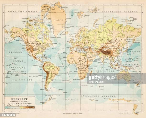 World map 1895
