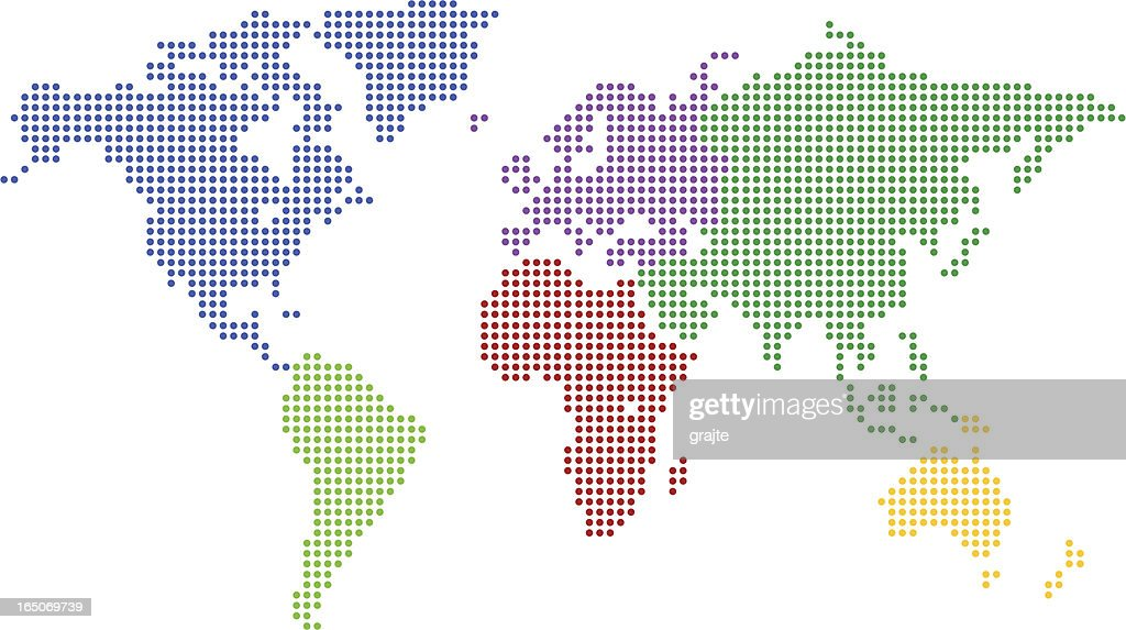 World map colored pixel vector art getty images world map colored pixel vector art gumiabroncs Choice Image