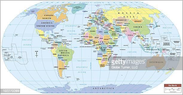 Ilustraciones de stock y dibujos de trpico de capricornio getty world map continent and country labels gumiabroncs Image collections