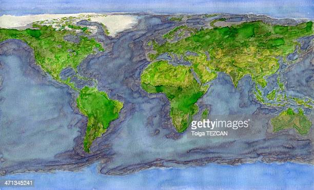 world map - climate stock illustrations, clip art, cartoons, & icons