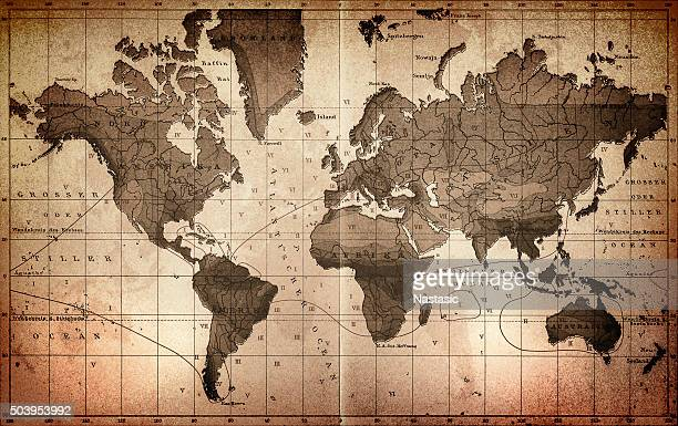 world map - the past stock illustrations