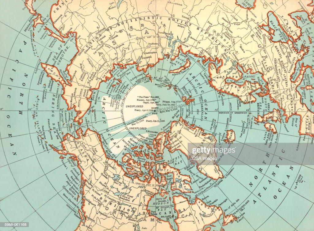 World map north pole stock illustration getty images world map north pole stock illustration gumiabroncs Choice Image