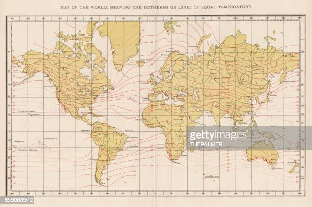 Ilustraciones de stock y dibujos de world map vintage getty images temperatura de mapa mundo 1893 gumiabroncs Gallery