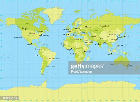 World map vector miller projection vector art getty images gumiabroncs Gallery