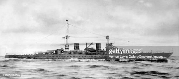 ilustraciones, imágenes clip art, dibujos animados e iconos de stock de world war i history print of the lexington class battlecruiser. - primera guerra mundial