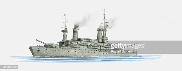 World War One German battleship