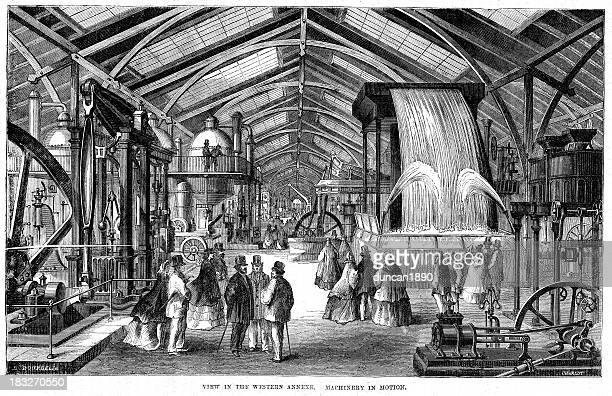 ilustraciones, imágenes clip art, dibujos animados e iconos de stock de feria mundial de 1862 london - revolucion industrial