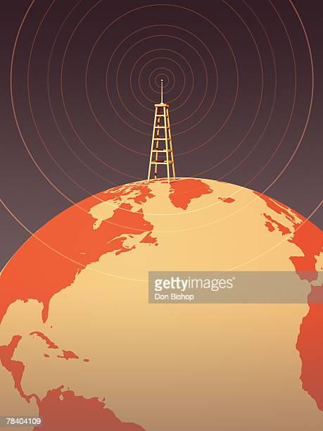 worldwide broadcasting - antenna aerial stock illustrations, clip art, cartoons, & icons