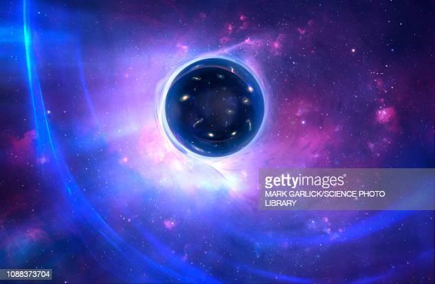 wormhole, illustration - black hole stock illustrations