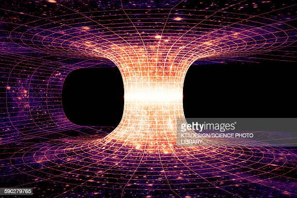 wormhole, illustration - physics stock illustrations