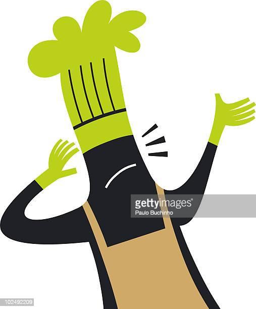 ilustrações de stock, clip art, desenhos animados e ícones de worried chef - buchinho