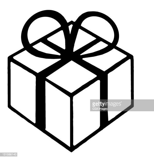 wrapped gift - giving stock illustrations