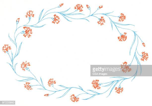 wreath - floral pattern stock illustrations