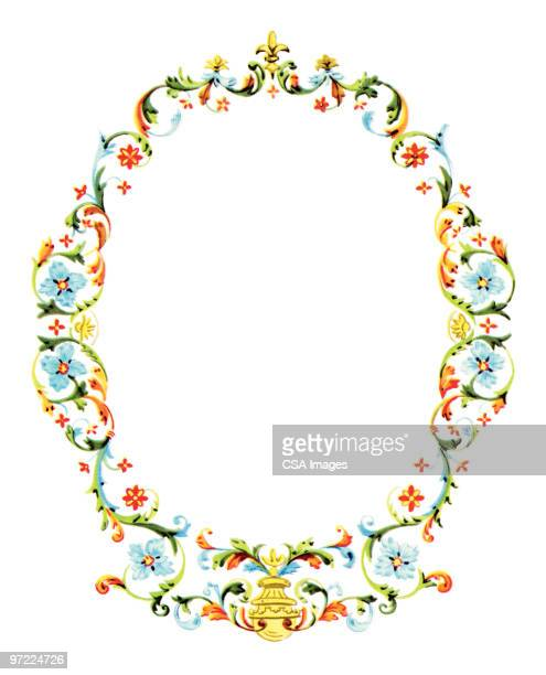 wreath - vine stock illustrations