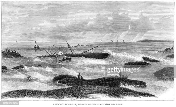 Wreck of the 'Atlantic' off Nova Scotia, 1873