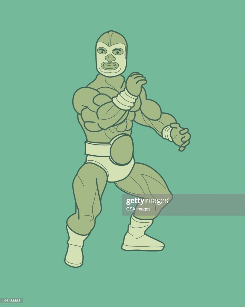 Wrestler : stock illustration