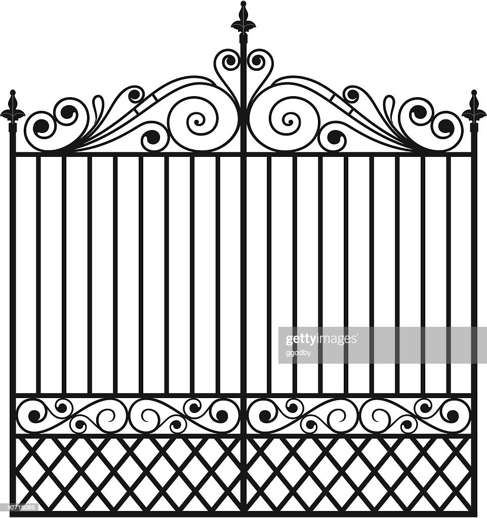 Wrought Iron Gate (Vector)