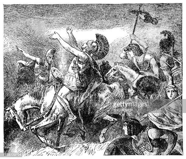 ilustraciones, imágenes clip art, dibujos animados e iconos de stock de xenophon griego historiador grabado 1894 - filosofos griegos
