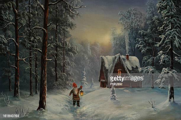 クリスマスの夜 - おとぎ話点のイラスト素材/クリップアート素材/マンガ素材/アイコン素材