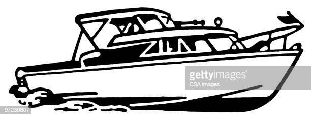 yacht - nautical vessel stock illustrations