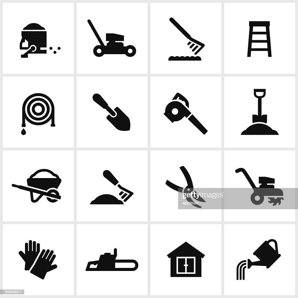 Yard Equipment Icons : stock illustration