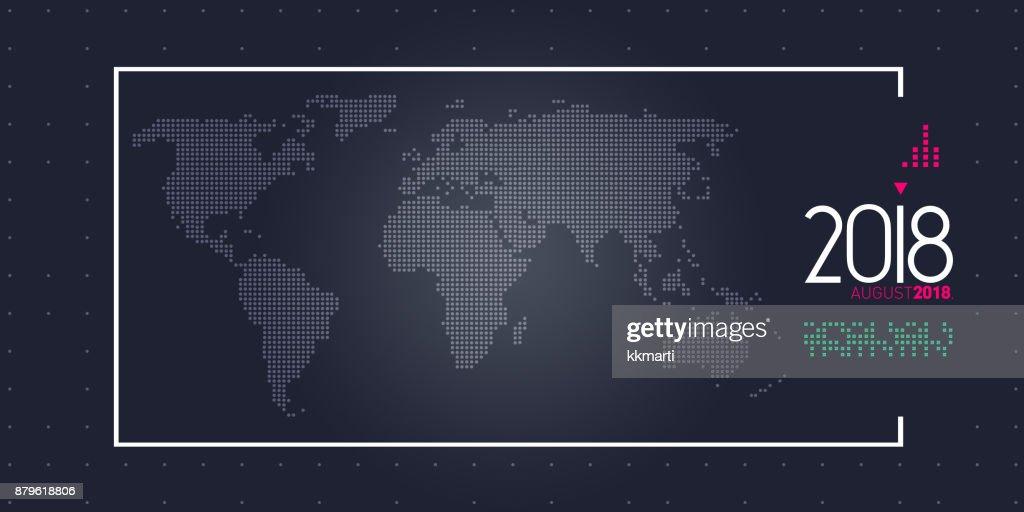 Year 2018 News Almanac Breaking Background Stock Illustration