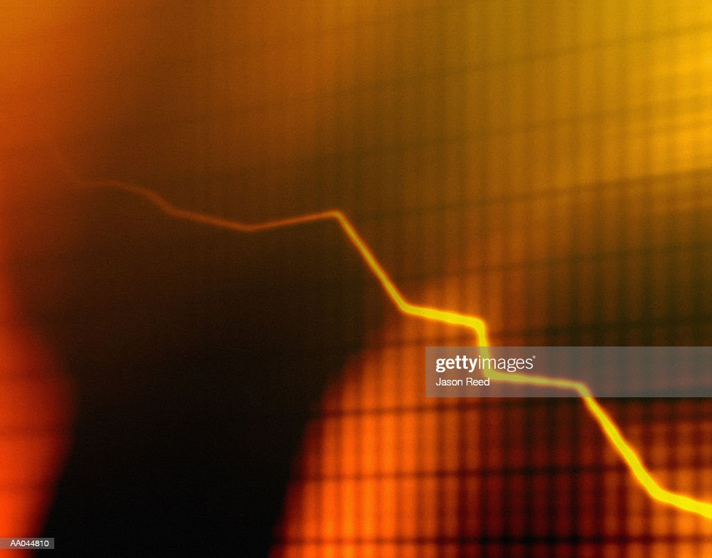 Yellow and orange line graph : stock illustration