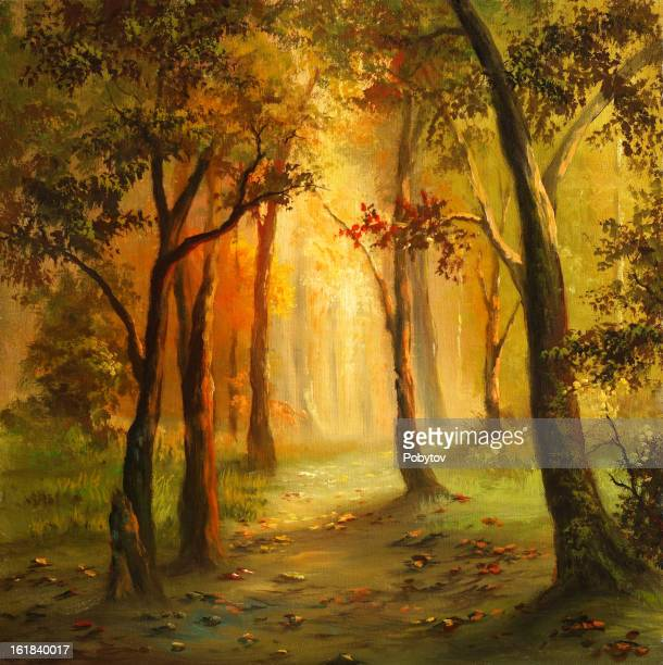 yellow autumn - ethereal stock illustrations, clip art, cartoons, & icons