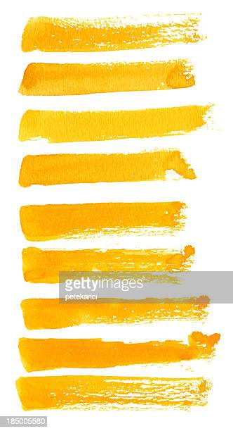 Yellow Brush Strokes