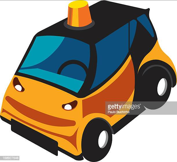 ilustrações de stock, clip art, desenhos animados e ícones de a yellow car - buchinho