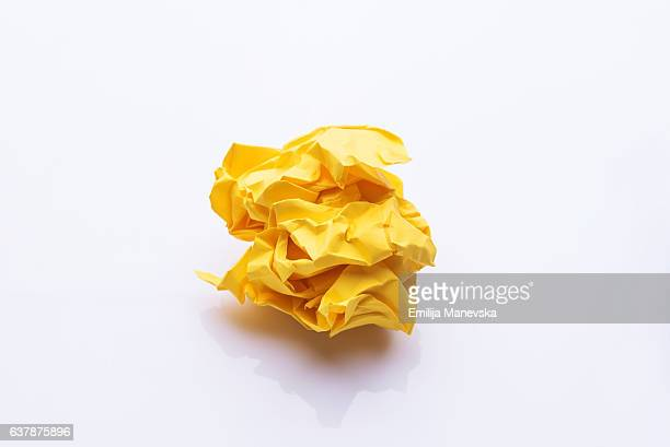yellow crumpled paper - crumpled stock illustrations