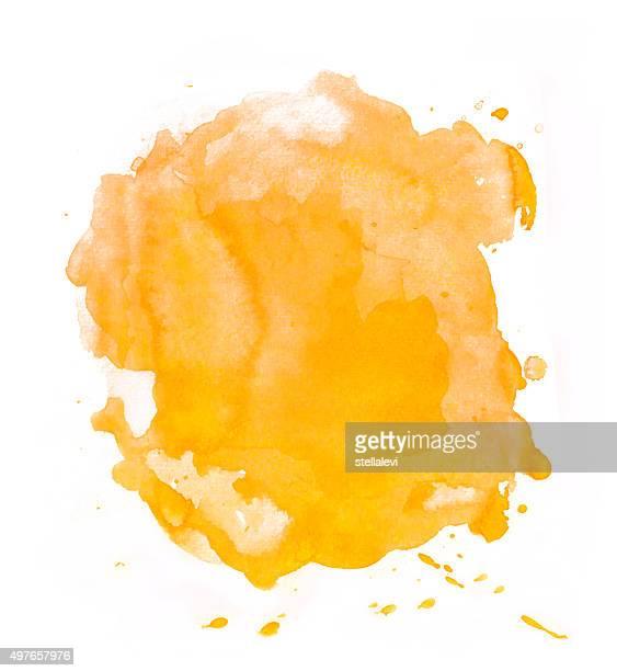 Yellow - orange splash of watercolor
