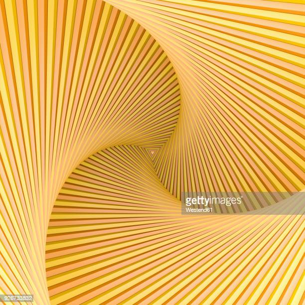 yellow spiral with triangular center - angle stock illustrations