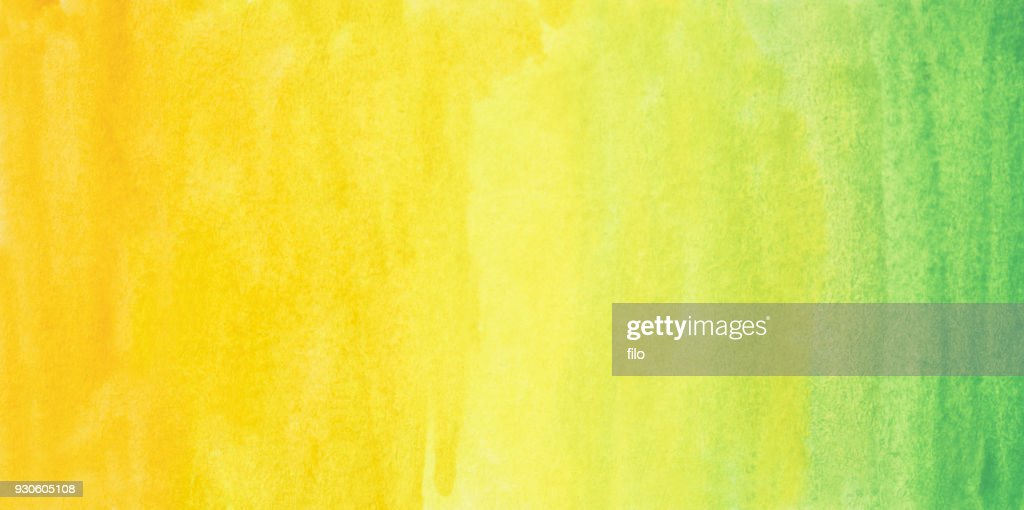 Yellow To Green Abstract Watercolor Gradient Background High