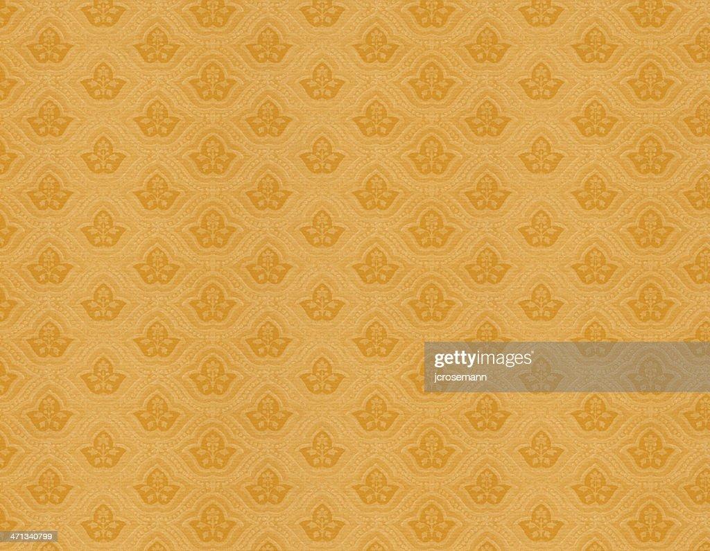 黄色ビンテージ壁紙 ストックイラストレーション Getty Images