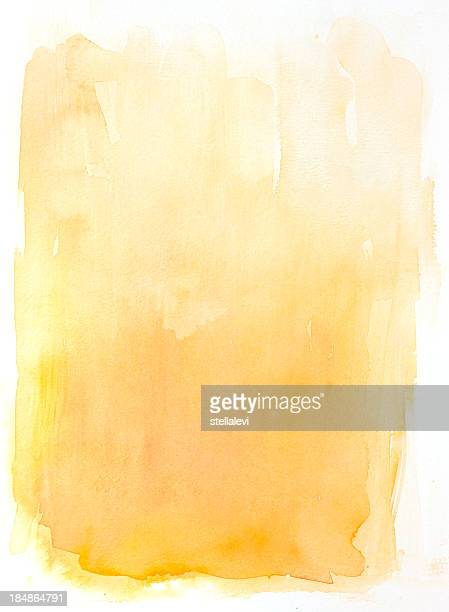yellow watercolor background - stellalevi stock illustrations
