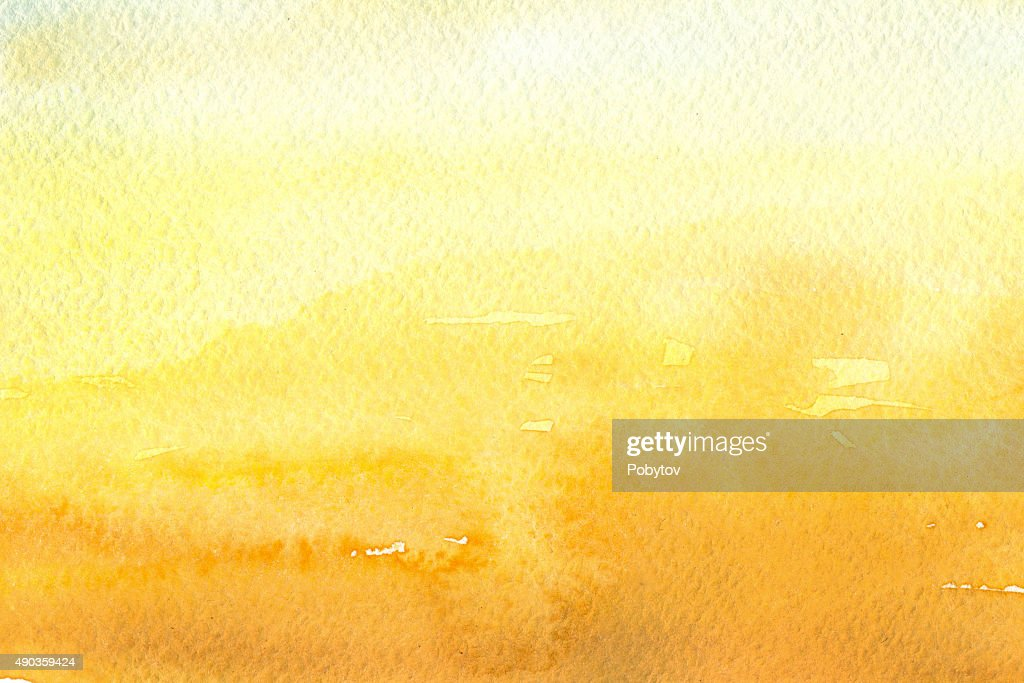 yellow watercolor background : stock illustration