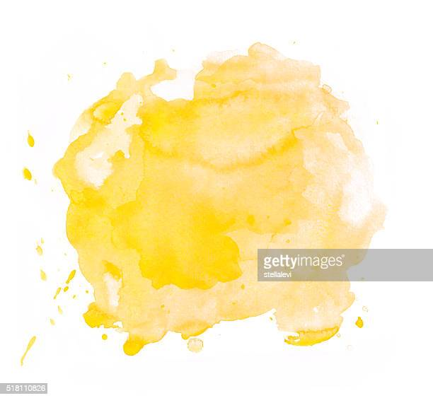 Yellow watercolor spot