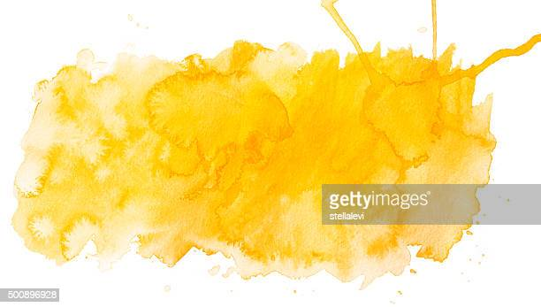 Yellow waterrcolor spot